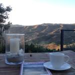 Terrasse am frühen Morgen