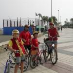 Radfahren an der Küste