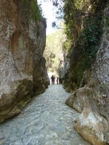 Flusswanderung durch den Rio Chillar bei Nerja